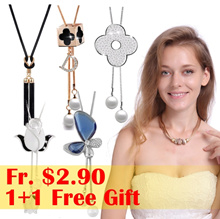 ♥SUPER SALE♥ 1+1 FREE Gift 600+ Styles New Best Selling Korean Necklaces