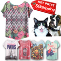 SG Shipping[Design By Korea]True Color Short sleeved T-shirt Unique printing High quality cotton Women T-shirt  Gifts etc