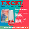 7inch Android 6.0 Tablet / Quad Core / 2gb RAM / 32gb ROM /  3800mAh / Dual SIM / SD Card up to 64gb