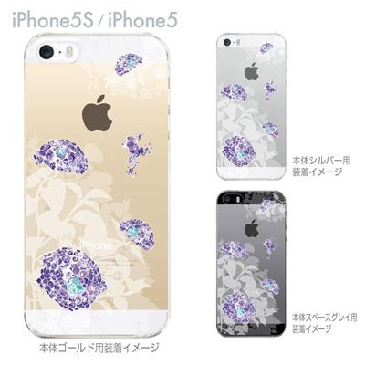 【iPhone5S】【iPhone5】【iPhone5sケース】【iPhone5ケース】【カバー】【スマホケース】【クリアケース】【フラワー】【あじさいとカエル】 29-ip5s-nt0092の画像