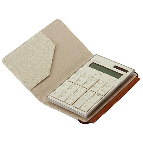 【クリックで詳細表示】amadana電子計算機レザーケースセット(ホワイト)LCA-704-WH