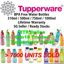 SG Seller ★Authentic Tupperware★ Water Bottles BPA Free Gifts Conference Sports Lifetime Warranty