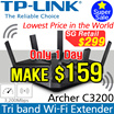 [Lowest Price in the World] *TP-LINK Archer C3200 Wireless Router /  3200Mbps / Tri-Band / Beamfoming / 5.0GHz / 2.4GHz   /Archer C3200