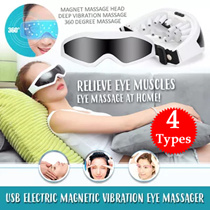 ⏰💪★4 Types★ USB Electric Magnetic Vibration Eye Massager ◆ Acupoint Massage ◆ Pressure Releasing