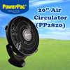 PP2820 20 Inch Air Circulator - Five Power Blades/High Velocity Motor/Turbulent Free/Stable and Concentrated Air Flow--Safety Mark Approved/Local Distributor
