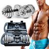 ◆Local Fast shipping◆Chrome Dumbbell Set dumbbells◆CNY / New Year/New Chrome Plating Cast Iron Adjustable Dumbbell kit set/ 15kg 20kg / muscle exercises /weight training/christmas