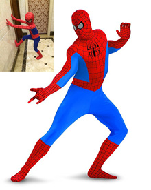 Halloween Costume Cosplay Party Outfit Spider-man Jumpsuit Adult Child Holiday Costumes