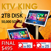 **READY STOCK**[KTV KING]2TB 50000 SONGS PRELOADED. Home Karaoke KTV. Family fun/language learning