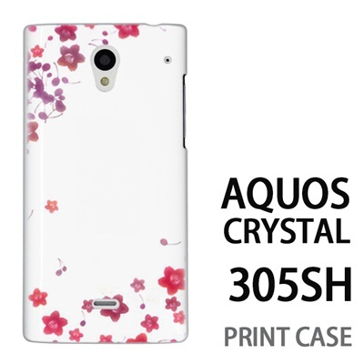 AQUOS CRYSTAL 305SH 用『0312 桜フレーム』特殊印刷ケース【 aquos crystal 305sh アクオス クリスタル アクオスクリスタル softbank ケース プリント カバー スマホケース スマホカバー 】の画像