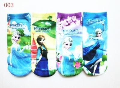 福袋★送料無料!003爆発的販売Frozenアナと雪の女王キッズ靴下  可愛い靴下4足セットアナと雪の女王Elsaスニーカーソックスの画像