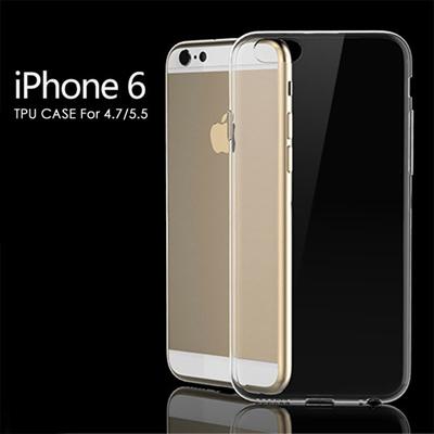 P【送料無料】≪ポイント10倍≫[激薄タイプ]激安 定番 大人気のiPhone6 / iPhone6 PLUS用クリアーTPU素材本体保護ケースカバー 激薄タイプ iPhone6本来の美しさを求めシンプルで滑りにくい透明感のあるオシャレな仕様 4.7インチ/5.5インチ 全9色カラーの画像