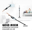 Cordless vacuum cleaner. Multi-directional work. lithium battery. Mute. GOLD AIKIA XC-V8