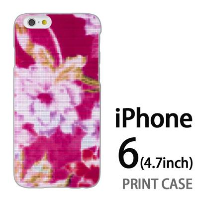 iPhone6 (4.7インチ) 用『No3 モザイクフラワー ピンク』特殊印刷ケース【 iphone6 iphone アイフォン アイフォン6 au docomo softbank Apple ケース プリント カバー スマホケース スマホカバー 】の画像