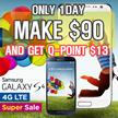 [MAKE $90! GET QPoint $13] SAMSUNG Galaxy S4 4G (LTE) 32GB/4G LTE Full HD (Unlocked)/[Refurbish = grade S]