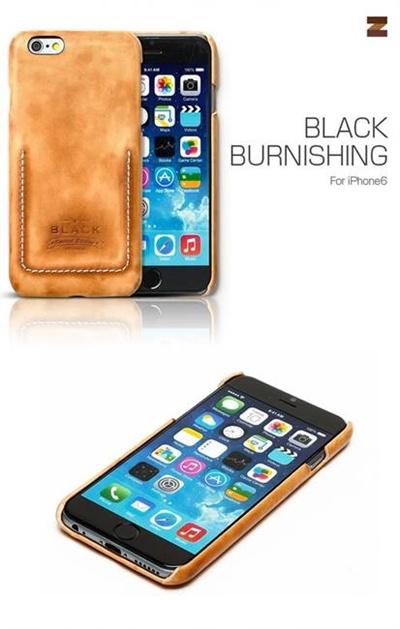 iPhone6カバーアイホン6 アイフォン6ケースiphoneケース アイフォン ブランド iphoneカバーiPhone6用 【iPhone6 4.7インチ 】ZENUS Black Burnishing Brown(ブラックバーニシング ブラウン)【メール便送料無料】の画像