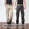 2017 Men Multi Pocket Casual Camouflage Cargo Pants Military Army Long Loose Cotton Trousers