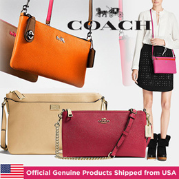 Exclusive Sale on Qoo10 Coach Crossbody/Official Genuine Products Shipped from USA