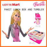 BARBIE PAKET LUNCH BOX AND TUMBLE *ONYX MBB31 AAB02 REFRESH WATER BTL 500ML *ONYX MBB31 AKC01 730ML SANDWICH BOX