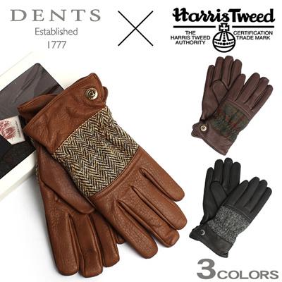 デンツ ハリスツイード グローブ ディアスキン(鹿革) DENTS 15-1598 TWEED GLOVES メンズ 手袋の画像