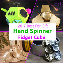 ★2017 SUPER SALE★ [Aluminum] Fidget Cube And Fidget Spinner Best Gift For Child Friend