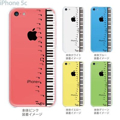 【iPhone5c】【iPhone5cケース】【iPhone5cカバー】【ケース】【カバー】【スマホケース】【クリアケース】【ミュージック】【ピアノと音符】 08-ip5c-ca0048aの画像
