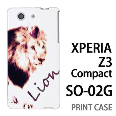XPERIA Z3 Compact SO-02G 用『No3 Lion』特殊印刷ケース【 xperia z3 compact so-02g so02g SO02G xperiaz3 エクスペリア エクスペリアz3 コンパクト docomo ケース プリント カバー スマホケース スマホカバー】の画像