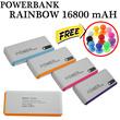 [free gift]powerbank newrainbow 16800 Mah_spesial promo_free Noosy sim adaptor atau Sandaraan hp karet_Grab it fast !!!!