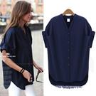 ヨーロッパとアメリカのファッションの個性半袖シャツシャツ/シフォンブラウス