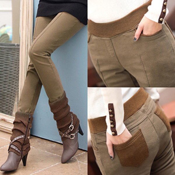 C women winter leggings/plus size thermal wear/winter inner wear/-15degree keep warm/women casual pants/fashion design/Elasticity pants Deals for only S$15 instead of S$0
