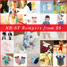❤ 27 Apr NEW ❤ SALE $6 NB-6Y Etsy Baby Rompers kids rompers baby bodysuits kids bodysuits
