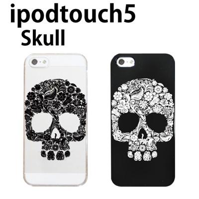特殊印刷/iPodtouch5(第5世代)iPodtouch6(第6世代) 【アイポッドタッチ アイポッド ipod ハードケース カバー ケース】 スカル(CCC-091)の画像