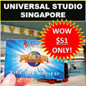 Universal Studio Singapore (Open Date One-Day USS Pass with $5 USS Retail Voucher) [CHEAPEST! IDEAL GIFTS!] Resorts World Sentosa. Singapore Attractions.