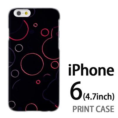 iPhone6 (4.7インチ) 用『No3 丸模様 黒』特殊印刷ケース【 iphone6 iphone アイフォン アイフォン6 au docomo softbank Apple ケース プリント カバー スマホケース スマホカバー 】の画像