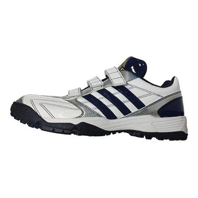 アディダス (adidas) adipure トレーナー(ランニングホワイト×カレッジネイビー×ゴールドメット) Q16773 [分類:野球 トレーニングシューズ]の画像