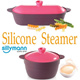 Silicone Steamer / 100% Platinum Silicone / Egg Steamer / Cook /Microwave Steamer/ Made in South Korea