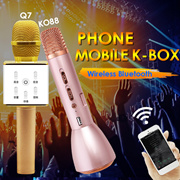 ◎GUARANTEED CHEAPEST ★ LOCAL WARRANTY ★ READY STOCKS ★ Wireless Bluetooth Karaoke KTV Microphone K088 Q7 iOS Android Sing Along Player Speaker