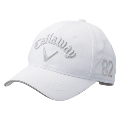 キャロウェイ (Callaway) Basic Cap Womens 15JM(ベーシックキャップウィメンズ)ホワイト×シルバー 5215414 [分類:ゴルフ 帽子・キャップ (レディース)]の画像