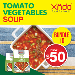 [$50 ONLY] Bundle of 10 Tomato Vegetables Soup