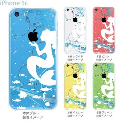 【iPhone5c】【iPhone5c ケース】【iPhone5c カバー】【ディズニー】【クリア ケース】【カバー】【スマホケース】【クリアケース】【イラスト】【クリアーアーツ】【人魚姫】 08-ip5c-ca0100aの画像
