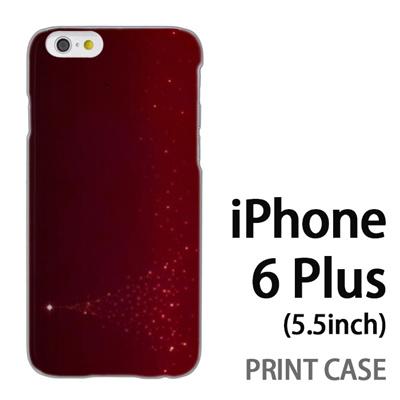 iPhone6 Plus (5.5インチ) 用『1204 星のツリー 赤』特殊印刷ケース【 iphone6 plus iphone アイフォン アイフォン6 プラス au docomo softbank Apple ケース プリント カバー スマホケース スマホカバー 】の画像
