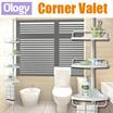 4 Level Bathroom Kitchen Corner Valet Organizer Holder Shelf Toilet Shower Rack with Adjustable Pole