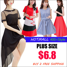 2017 New Summer Korean Ladies Fashion Dress  Plus Size Collection /Dress /Blouse/ Skirt/Midi Skirts