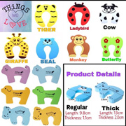 Baby Child Safety Cute Animal Door Stopper Guard Thick Regular