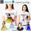 Basic Tshirt import / vogue princess Tumblr tee-kaos Basic Wania-bahan adem-best Seller