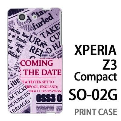 XPERIA Z3 Compact SO-02G 用『No3 news paper』特殊印刷ケース【 xperia z3 compact so-02g so02g SO02G xperiaz3 エクスペリア エクスペリアz3 コンパクト docomo ケース プリント カバー スマホケース スマホカバー】の画像