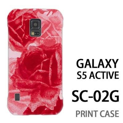 GALAXY S5 Active SC-02G 用『0316 擦れバラ ピンク』特殊印刷ケース【 galaxy s5 active SC-02G sc02g SC02G galaxys5 ギャラクシー ギャラクシーs5 アクティブ docomo ケース プリント カバー スマホケース スマホカバー】の画像
