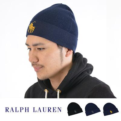 【メール便送料無料/1点まで】ポロ ラルフローレン POLO RALPH LAUREN ユニセックス ビッグポニーニットキャップ/ニット帽 Big Pony Knit Cuff Hatの画像