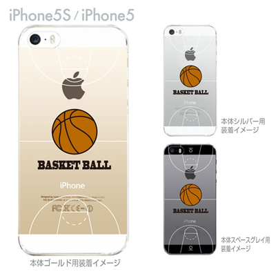 【iPhone5S】【iPhone5】【Clear Arts】【iPhone5ケース】【カバー】【スマホケース】【クリアケース】【クリアーアーツ】【バスケットボール】 10-ip5-ca0059の画像