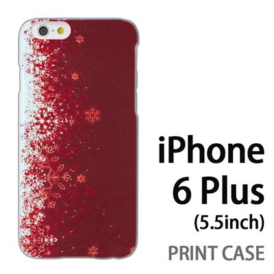 iPhone6 Plus (5.5インチ) 用『1204 雪結晶 赤』特殊印刷ケース【 iphone6 plus iphone アイフォン アイフォン6 プラス au docomo softbank Apple ケース プリント カバー スマホケース スマホカバー 】の画像