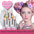 HIGHLY RAVED!! ♥FLORAL JELLY LIPSTICK♥ Angel Temptation Blossom Flower Magic Jelly Lipstick..Gold Foil In It. Change Colour On Lip. Most On Trend Lip Tint. Long Lasting LipGloss LipBalm